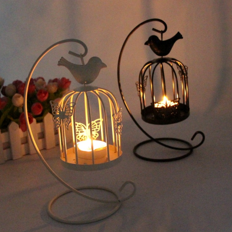 Butterfly and  bird candle holder