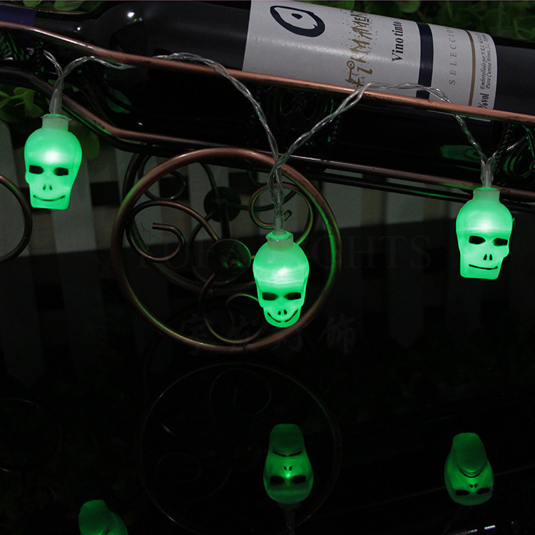 skull 2.3meter  10LED battery lighting