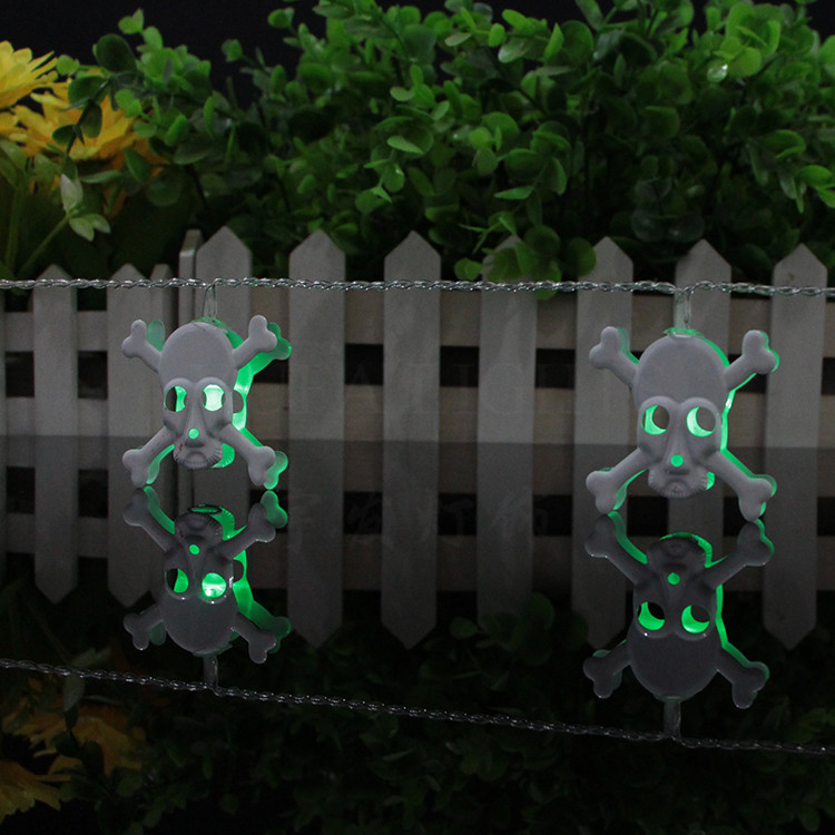 iron skull 2.3meter  10LED battery lighting