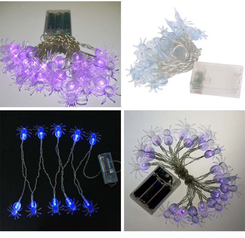 Purple spider  2.3meter  10LED battery lighting