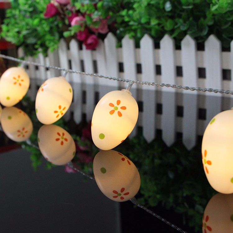 10 Led plastic Easter Egg string Light Led Fairy Lights Warm White christmas Decoration Light