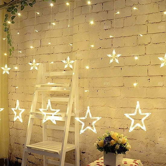 LED star curtain lighting