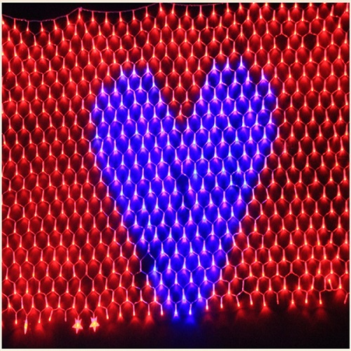 heart LED sport NET  lighting